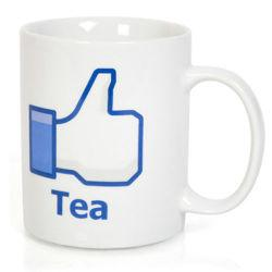 šálka LIKE facebook TEA