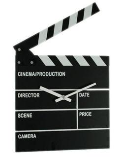 Hodiny filmová klapka
