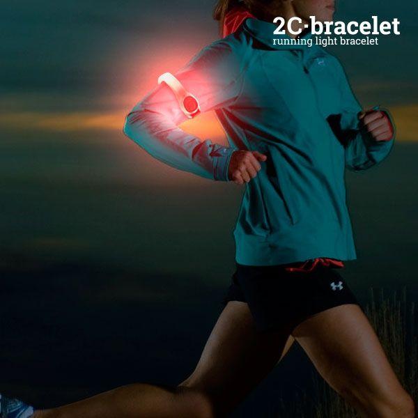 Športový Bezpečnostný LED Pásik 2C 01b5268c836